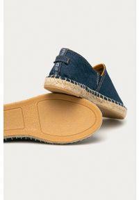 Big-Star - Big Star - Espadryle. Nosek buta: okrągły. Kolor: niebieski. Materiał: guma, materiał. Wzór: gładki