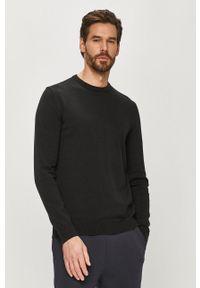 Czarny sweter Only & Sons z długim rękawem, na co dzień, casualowy, długi