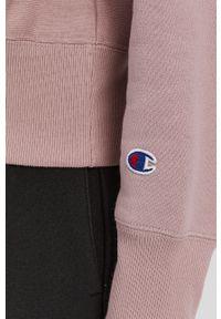 Champion - Bluza. Kolor: różowy. Materiał: dzianina. Długość rękawa: długi rękaw. Długość: długie