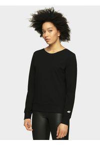 Czarna bluza nierozpinana 4f z dekoltem na plecach, casualowa, na co dzień