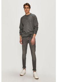 Szara bluza nierozpinana Calvin Klein melanż, casualowa