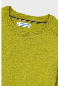 Zielony sweter Mayoral raglanowy rękaw, na co dzień