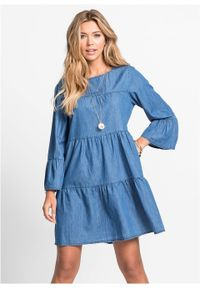 Niebieska sukienka bonprix sportowa, elegancka
