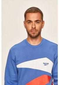 Niebieska bluza nierozpinana Reebok Classic na co dzień, casualowa