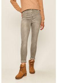 Szare jeansy TALLY WEIJL z podwyższonym stanem
