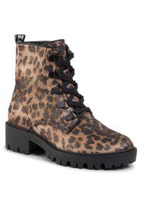 Brązowe buty trekkingowe Kendall + Kylie z cholewką
