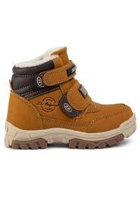 Brązowe buty zimowe Action Boy z cholewką, na spacer
