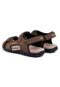 Brązowe sandały Geox na lato, na co dzień, klasyczne