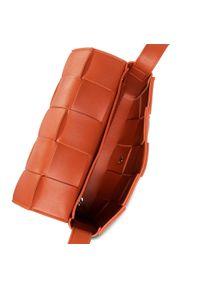 DeeZee - Torebka DEEZEE - RX3275 Orange. Kolor: pomarańczowy. Wzór: aplikacja. Materiał: skórzane
