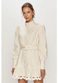 Biała sukienka Silvian Heach prosta, mini, klasyczna, na co dzień