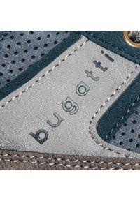 Niebieskie półbuty Bugatti klasyczne, z cholewką