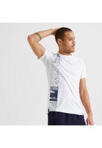 Koszulka do fitnessu DOMYOS w ażurowe wzory