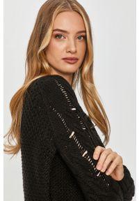 Czarny sweter Answear Lab wakacyjny, z długim rękawem, na co dzień