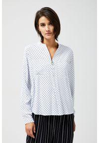 Koszula MOODO długa, w geometryczne wzory, z długim rękawem, ze stójką