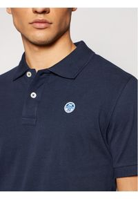 North Sails Polo W/Logo 692240 Granatowy Regular Fit. Typ kołnierza: polo. Kolor: niebieski