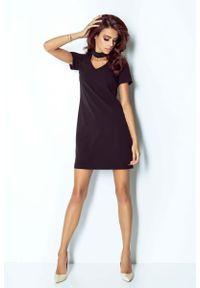 Czarna sukienka IVON mini, trapezowa