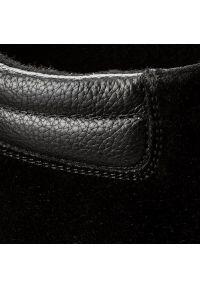 Czarne trzewiki Gino Rossi z cholewką, eleganckie