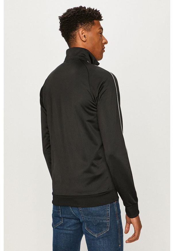 Czarna bluza rozpinana adidas Performance raglanowy rękaw, na co dzień, casualowa