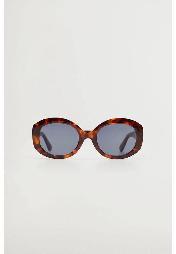 Brązowe okulary przeciwsłoneczne mango owalne