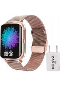 Złoty zegarek ZAXER smartwatch