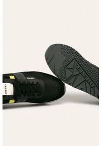 Czarne sneakersy Diesel na sznurówki, z okrągłym noskiem