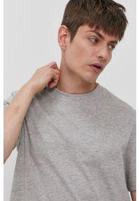 Szary t-shirt Lee Cooper gładki, casualowy