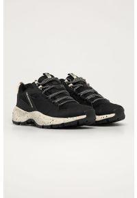 Czarne buty sportowe The North Face na sznurówki, z cholewką