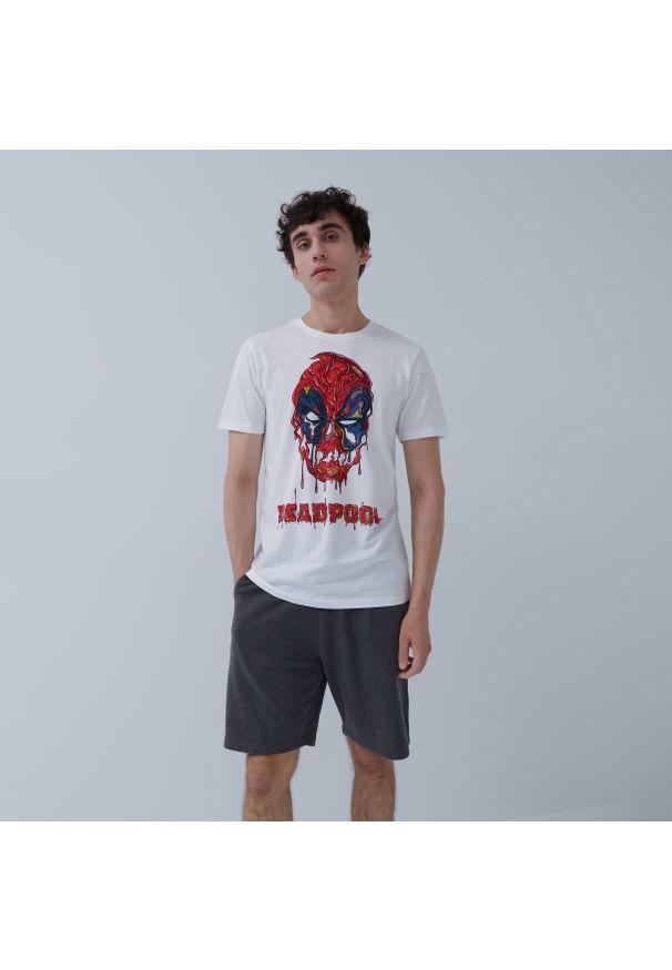 House - Koszulka Deadpool - Biały. Kolor: biały