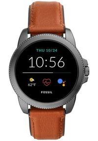 Fossil smartwatch FTW4055 Gen5E Smartwatch M Brown Leather. Rodzaj zegarka: smartwatch. Kolor: brązowy. Materiał: skóra. Styl: sportowy, elegancki
