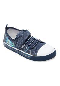 UNDERLINE - Trampki dziecięce Underline 26B1558 Jeansowe. Zapięcie: rzepy. Materiał: jeans