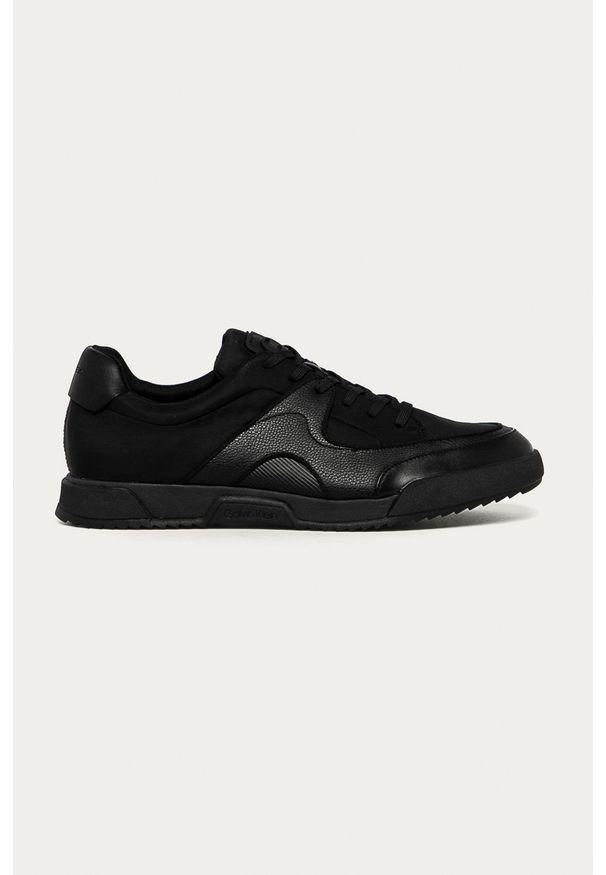 Czarne sneakersy Calvin Klein na sznurówki