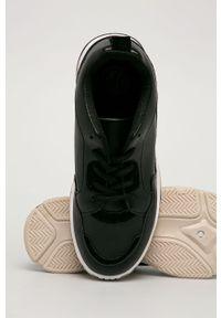 Czarne buty sportowe Answear Lab na obcasie, z cholewką