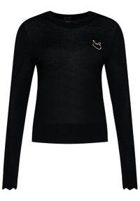 Czarny sweter klasyczny Pinko
