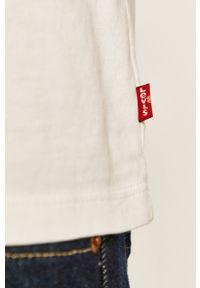 Biała koszulka z długim rękawem Levi's® casualowa, z okrągłym kołnierzem, w kolorowe wzory