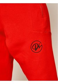 Czerwone spodnie dresowe Diamante Wear