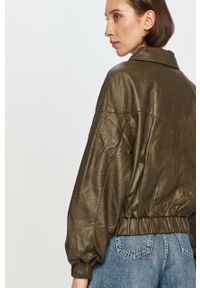 Oliwkowa kurtka Pepe Jeans bez kaptura