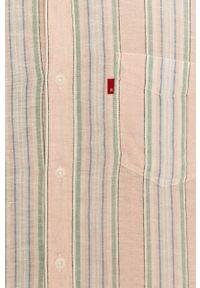 Różowa koszula Levi's® krótka, klasyczna, na spotkanie biznesowe #5