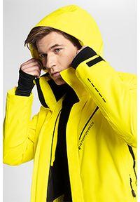 4f - Kurtka narciarska HQ Performance KUMN154 - żółty. Kolekcja: plus size. Kolor: żółty. Materiał: materiał, mesh, poliester. Technologia: Dermizax. Sezon: zima. Sport: narciarstwo