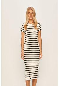 Biała sukienka Polo Ralph Lauren prosta, midi, casualowa, na co dzień