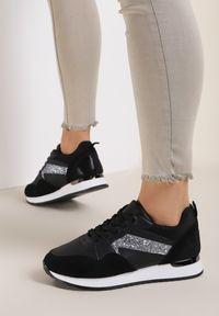 Renee - Czarne Sneakersy Diave. Kolor: czarny