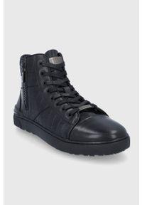 GOE - Trampki. Nosek buta: okrągły. Kolor: czarny. Materiał: guma. Szerokość cholewki: normalna