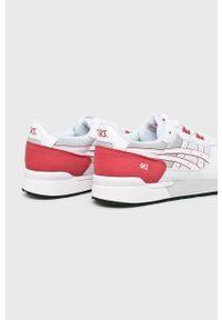 Białe sneakersy Asics Tiger z cholewką, na sznurówki