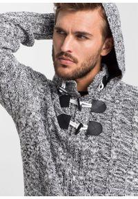 Czarny sweter bonprix melanż, z kapturem