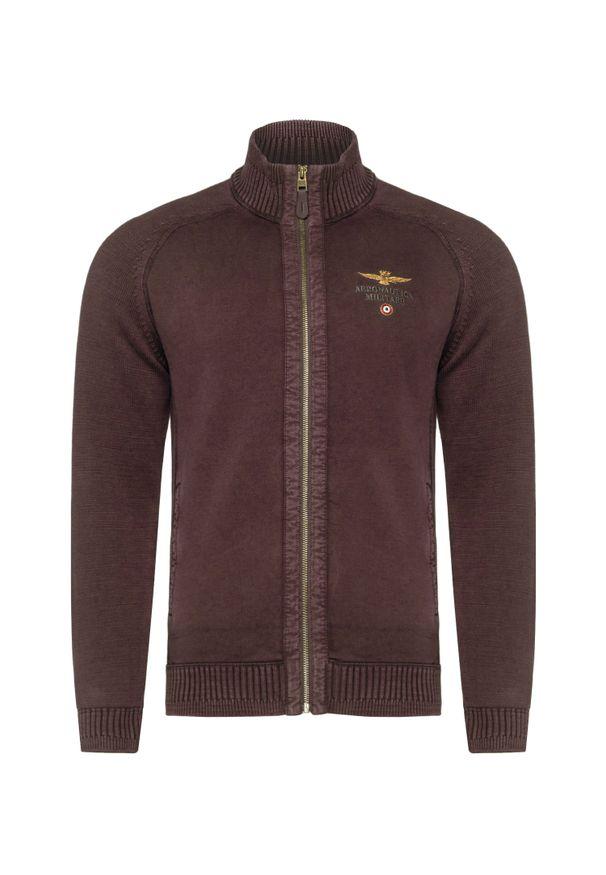 Brązowy sweter Aeronautica Militare