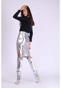 Srebrna długa spódnica Nommo