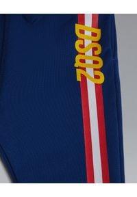 DSQUARED2 KIDS - Bawełniane spodnie dresowe 0-3 lata. Kolor: niebieski. Materiał: dresówka, bawełna. Długość: długie. Wzór: nadruk. Sezon: lato