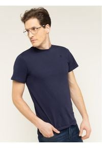 G-Star RAW - G-Star Raw T-Shirt Base-S D16411-336-6484 Granatowy Regular Fit. Kolor: niebieski
