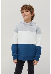 Niebieska bluza Mango Kids z kapturem