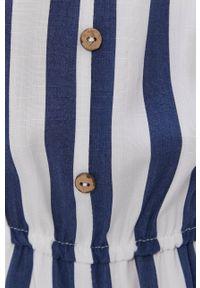 Haily's - Kombinezon. Okazja: na co dzień. Kolor: niebieski. Materiał: tkanina. Długość rękawa: na ramiączkach. Styl: casual