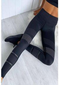 Czarne legginsy sportowe IVET na fitness i siłownię